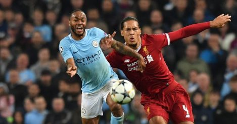 Raheem Sterling Virgil van Dijk Liverpool Manchester City