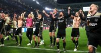 Ajax celebrate Juventus Champions League