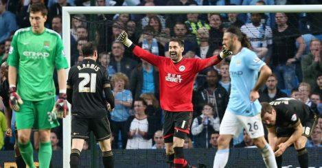 Wigan celebrate Manchester City quadruple 2014