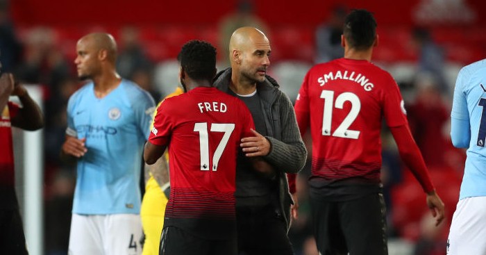 Image result for man united 0-2 man city 2019 guardiola