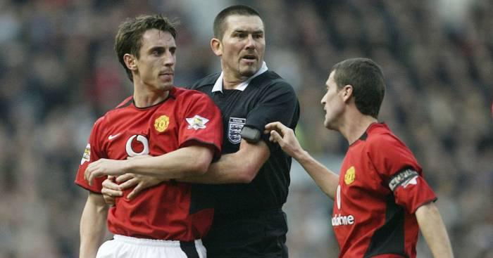 Roy Keane Gary Neville Manchester United