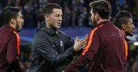 Eden Hazard Lionel Messi Chelsea Barcelona
