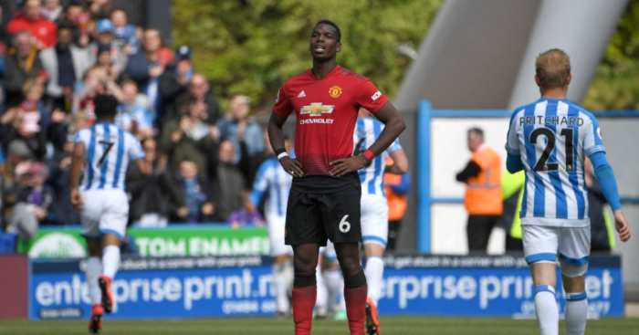Paul Pogba Manchester United Huddersfield Town