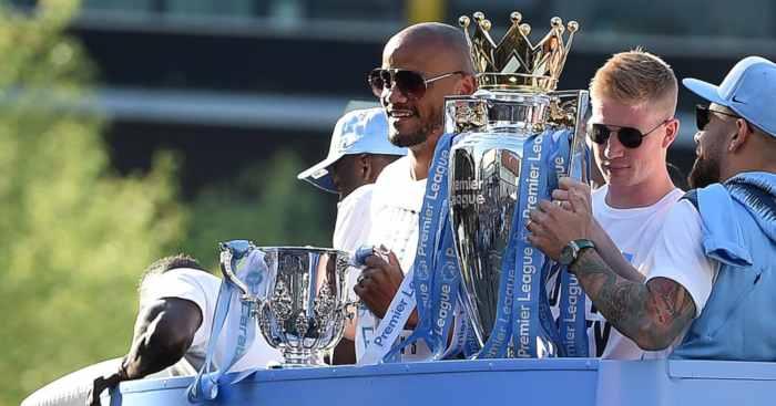 Vincent Kompany Kevin de Bruyne Manchester City