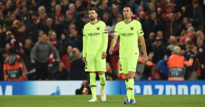 Barcelona Gerard Pique Sergio Busquets Barcelona Liverpool