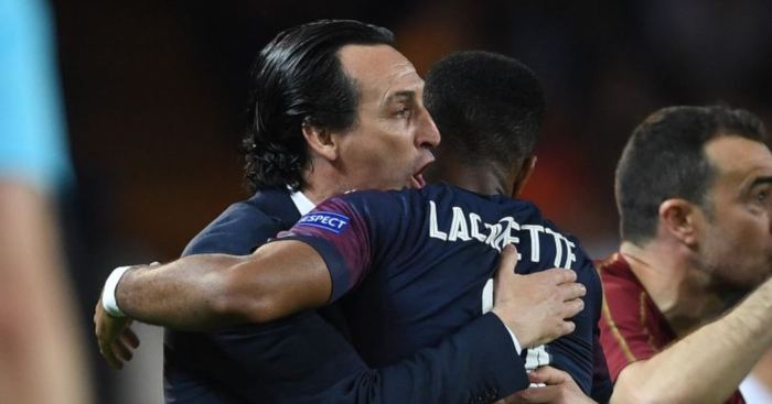 Alexandre Lacazette Unai Emery Arsenal