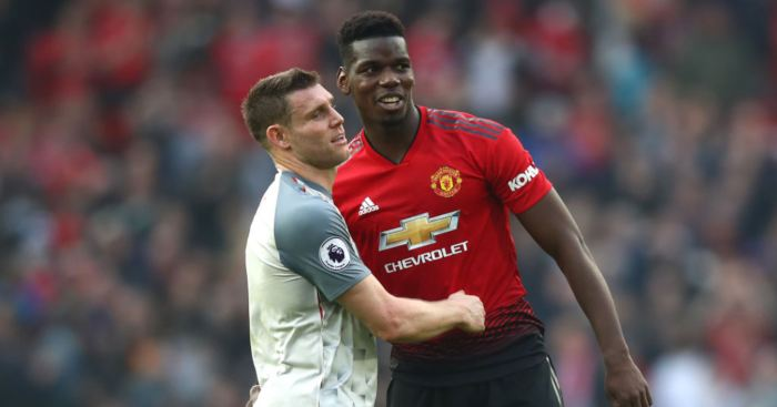 Paul Pogba James Milner Manchester United Liverpool