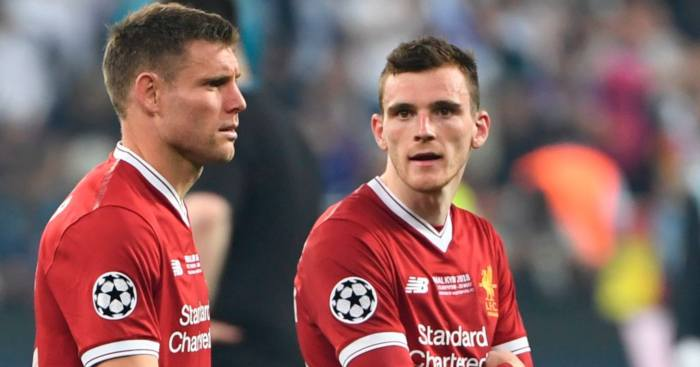Andy Robertson James Milner Liverpool