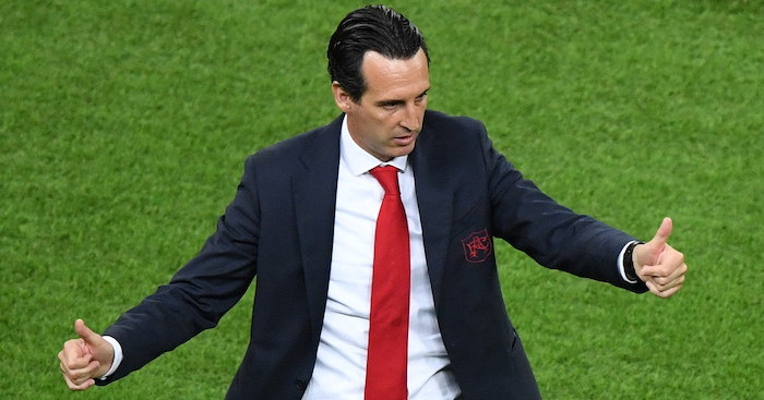 Arsenal's Spanish head coach Unai Emery