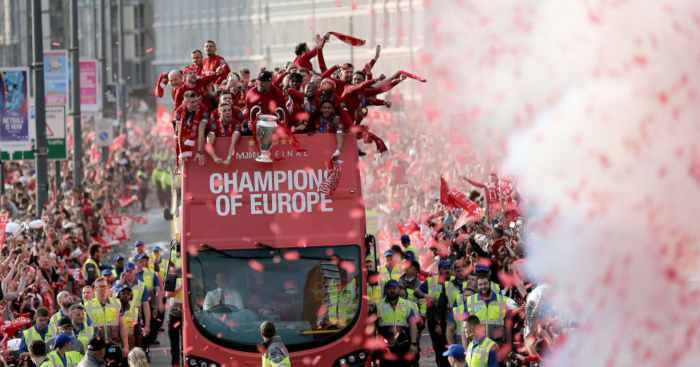 Liverpool Champions League bus parade