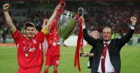 Rafa Benitez Steven Gerrard Liverpool Champions League winners