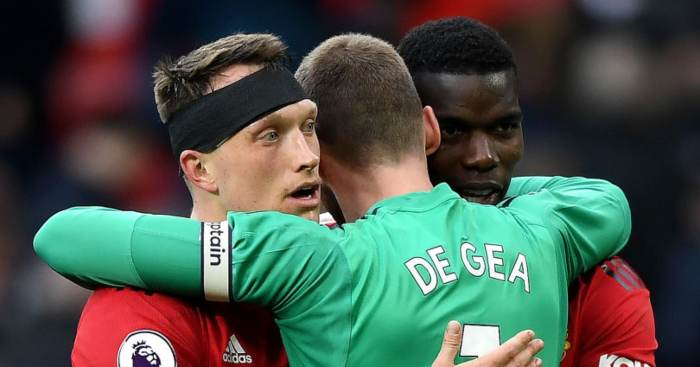 David de Gea Paul Pogba Phil Jones Manchester United