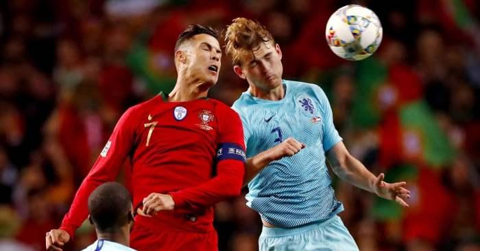 Matthijs de Ligt Cristiano Ronaldo Netherlands Portugal