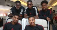 Marcus Rashford Jesse Lingard Aaron Wan-Bissaka Manchester United