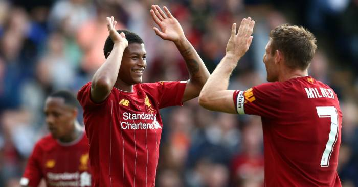 Rhian Brewster James Milner Liverpool