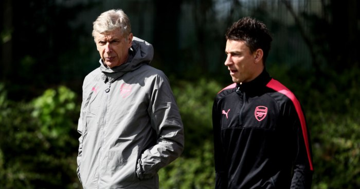 Arsene Wenger Laurent Koscielny Arsenal