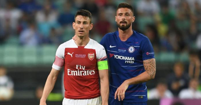 Laurent Koscielny Olivier Giroud Arsenal