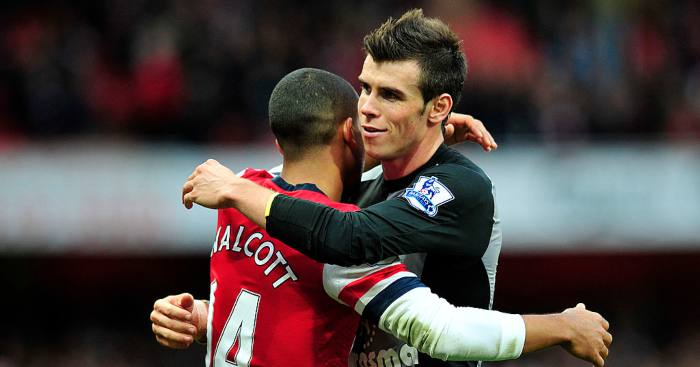 Gareth Bale Theo Walcott Arsenal Tottenham