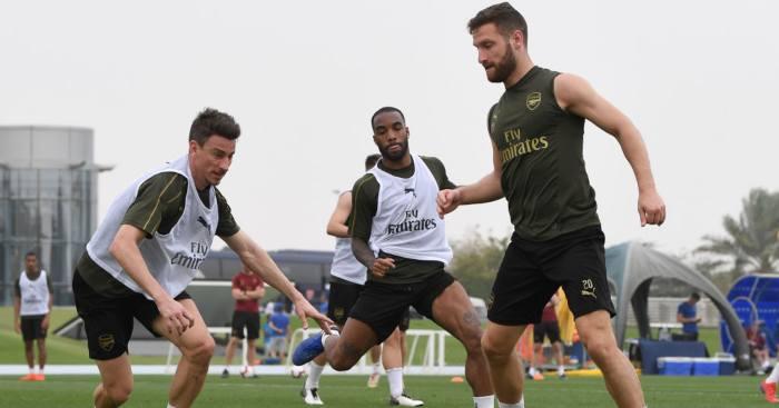 Shkodran Mustafi Laurent Koscielny Arsenal