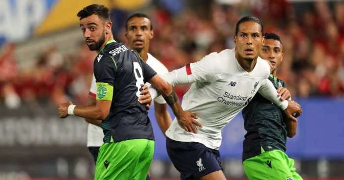 Bruno Fernandes Virgil van Dijk Sporting Lisbon Liverpool