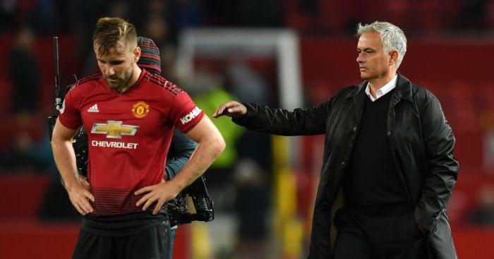 Jose Mourinho Luke Shaw Manchester United