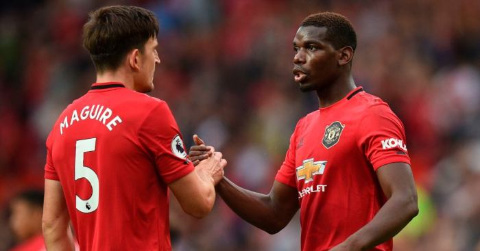 Harry Maguire Paul Pogba Manchester United