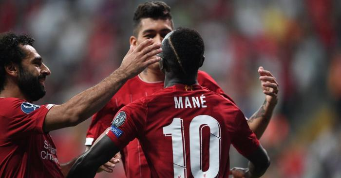 Sadio Mane Roberto Firmino Mohamed Salah Liverpool