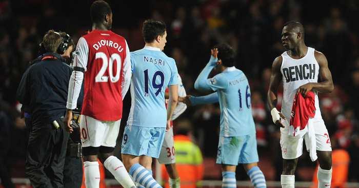 Samir Nasri Emmanuel Frimpong Arsenal Manchester City