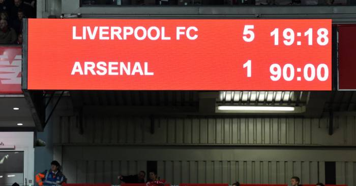 Liverpool Arsenal 5-1
