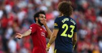 Mohamed Salah David Luiz Liverpool Arsenal