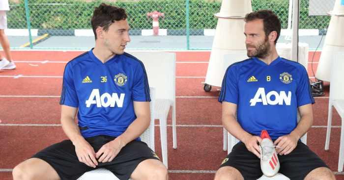 Matteo Darmian Juan Mata Manchester United