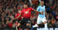 Fernandinho Jesse Lingard Manchester City Manchester United