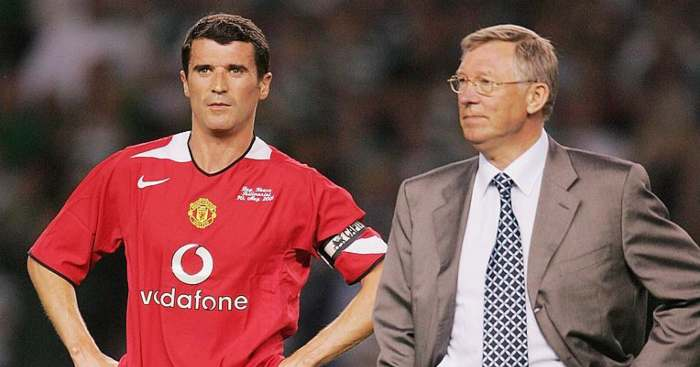Roy Keane Sir Alex Ferguson Manchester United