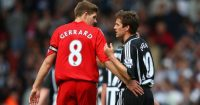 Steven Gerrard Michael Owen Liverpool Newcastle United