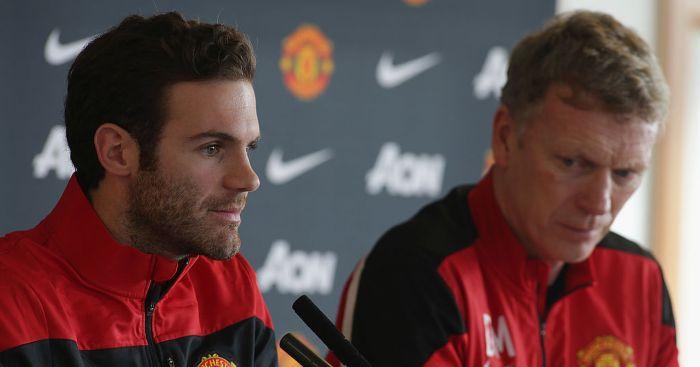 Juan Mata David Moyes Manchester United