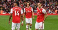 David Luiz Pierre-Emerick Aubameyang Granit Xhaka Arsenal