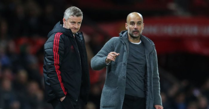 Ole Gunnar Solskjaer Pep Guardiola Manchester United Manchester City