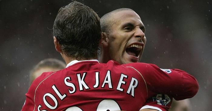 Ole Gunnar Solskjaer Rio Ferdinand Manchester United