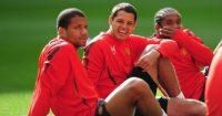 Anderson Bebe Javier Hernandez Manchester United