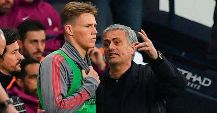 Scott McTominay Jose Mourinho Manchester United