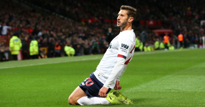 Adam Lallana Liverpool Manchester United