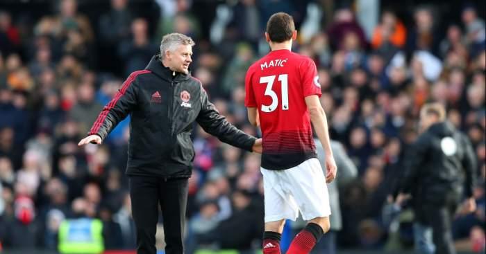 Nemanja Matic Ole Gunnar Solskjaer Manchester United