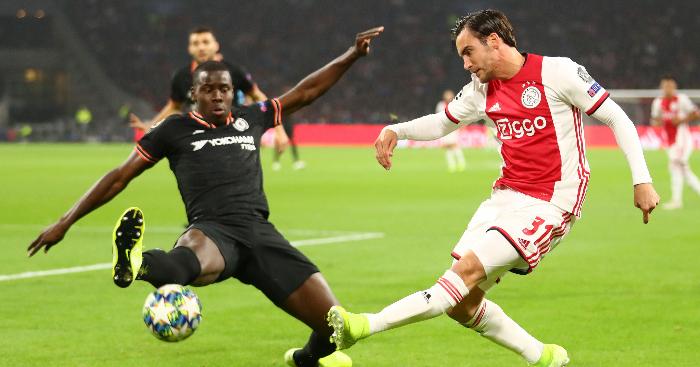Chelsea 'register interest' in Ajax star despite Chilwell 'softening'
