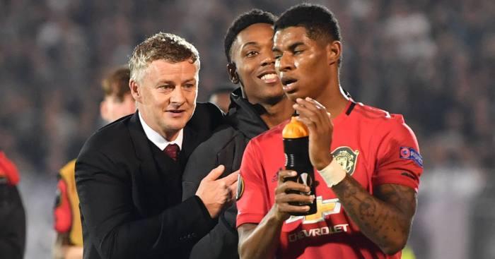 Ole Gunnar Solskjaer Anthony Martial Marcus Rashford Manchester United
