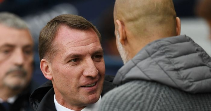 Brendan Rodgers Pep Guardiola Manchester City Leicester