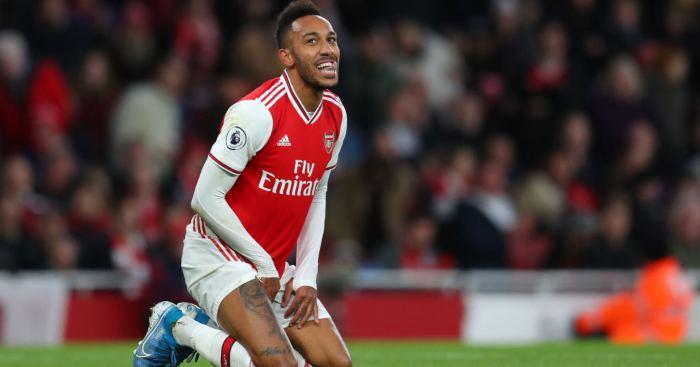 Hasil gambar untuk Aubameyang Arsenal november 2019