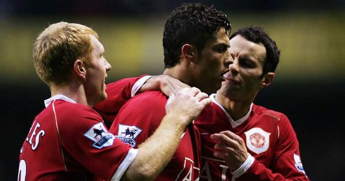 Cristiano Ronaldo Manchester United Ryan Giggs Paul Scholes