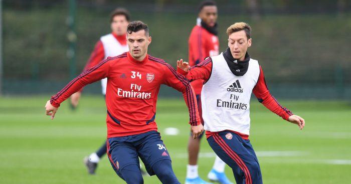 Granit Xhaka Mesut Ozil Arsenal