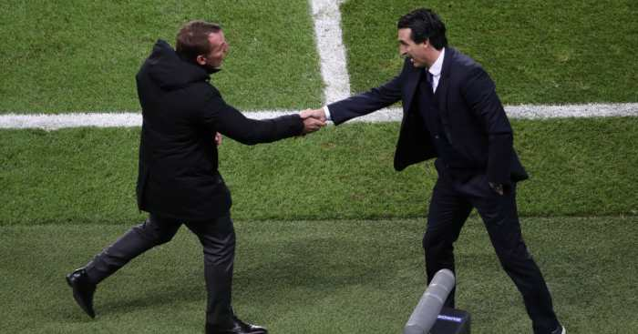 Brendan Rodgers Unai Emery