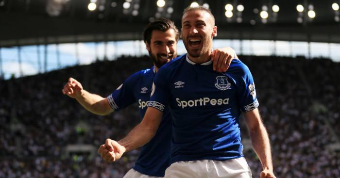 Cenk Tosun Andre Gomes Everton